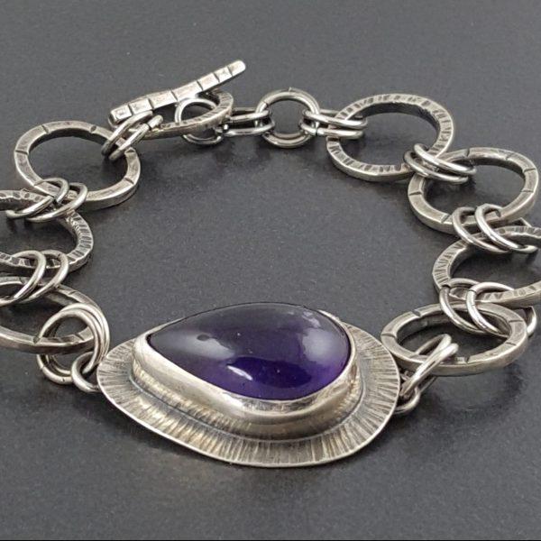 Amethyst Link Bracelet 4