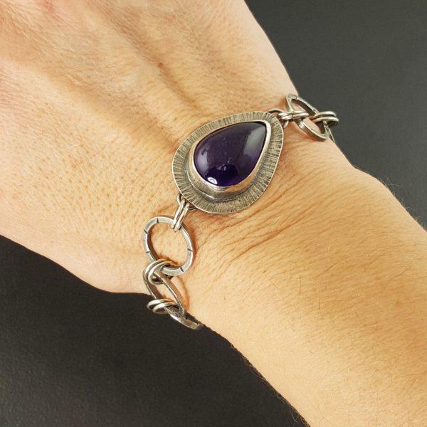 Amethyst Link Bracelet 1