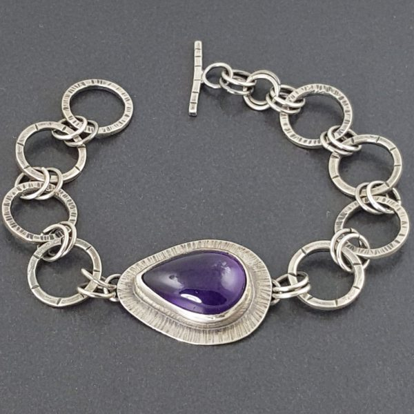 Amethyst Link Bracelet 2