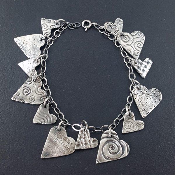heart charm bracelet michele grady