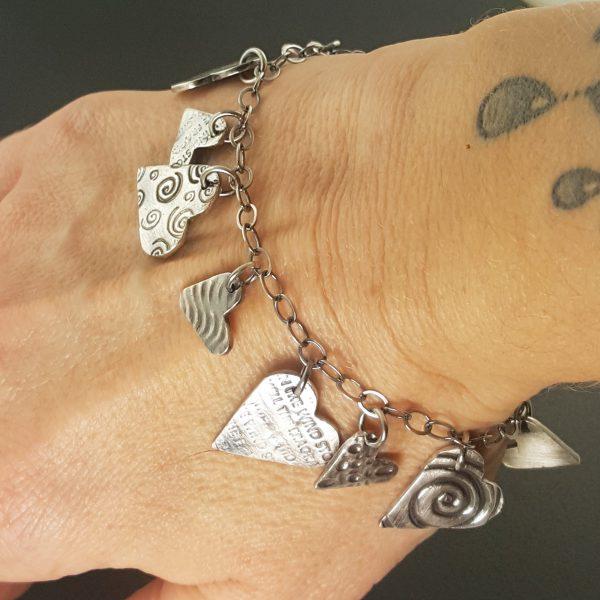 heart charm bracelet 3 michele grady