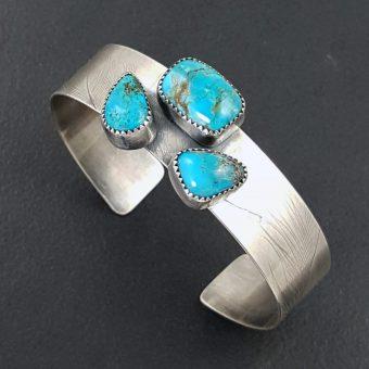 3 Stone Turquoise Cuff 2