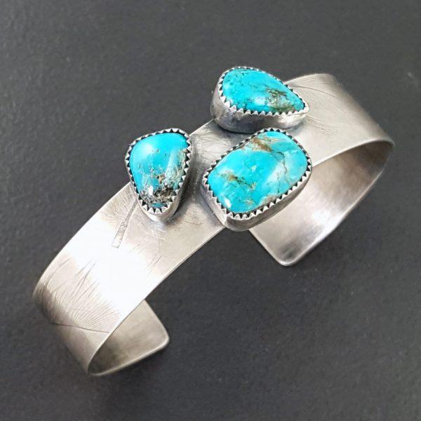 3 Stone Turquoise Cuff 4
