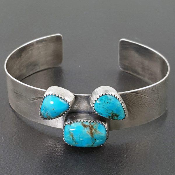 3 Stone Turquoise Cuff 6