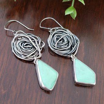 variscite rose earrings 4