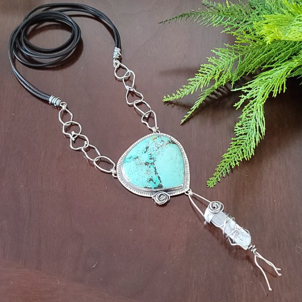 Turquoise Rose Statement Necklace 1