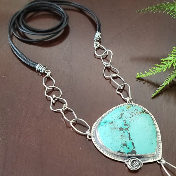Turquoise Rose Statement Necklace 3