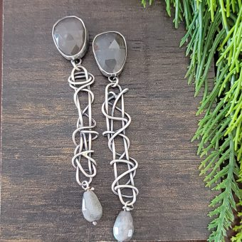 moonstone labradorite grapevine earrings 4
