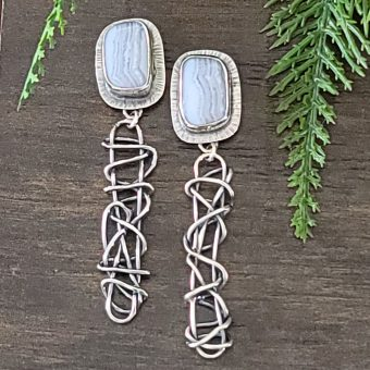 blue lace agate grapevine earrings 1