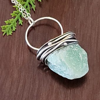 Natural Surface Aventurine Pendant