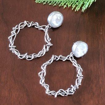 pearl grapevine hoop earrings Michele Grady