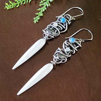 bone drop grapevine earrings Michele Grady
