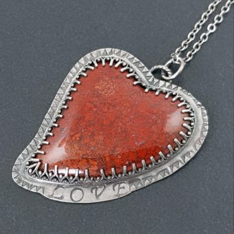 Brenda Agate Heart Necklace