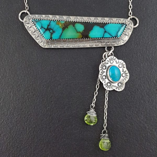 Asymmetrical Turquoise Necklace