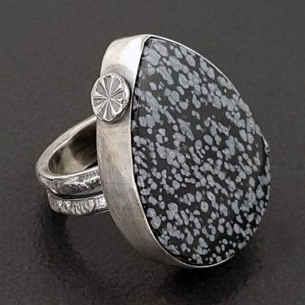 snowflake obsidian ring Michele Grady