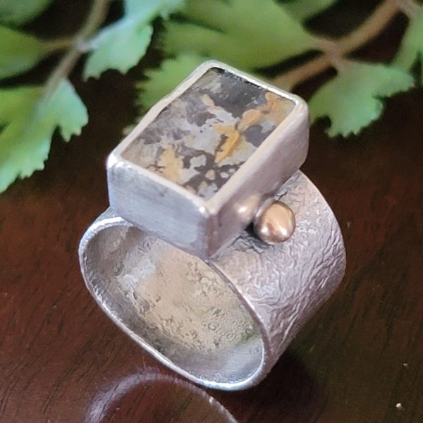 dendritic agate wide band ring Michele Grady