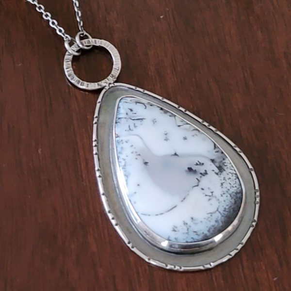 Dendritic opal necklace