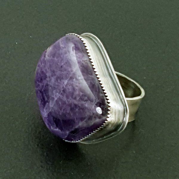 Amethyst Rock Ring