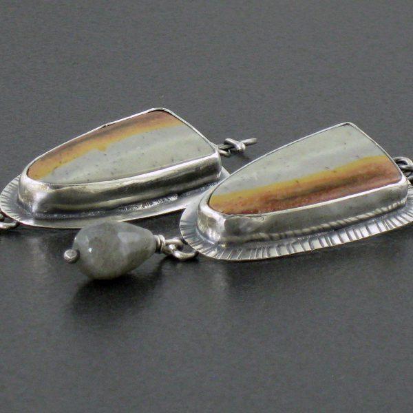 polychrome jasper earrings