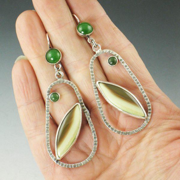 Imperial Jasper Hoop Earrings