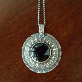 Black Onyx Mandala Necklace