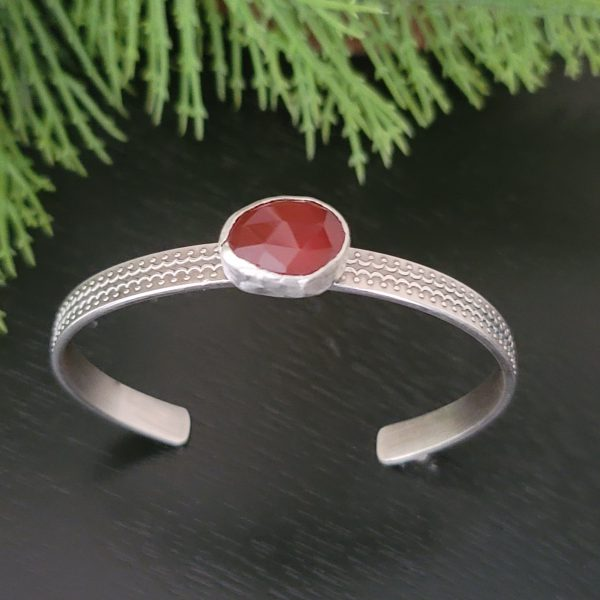 red onyx stacking cuff