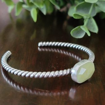olive jade stacking cuff