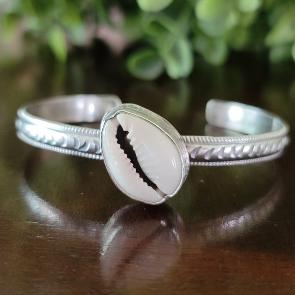 cowrie shell stacking cuff