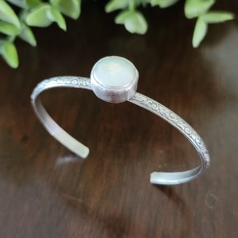 coin pearl stacking cuff