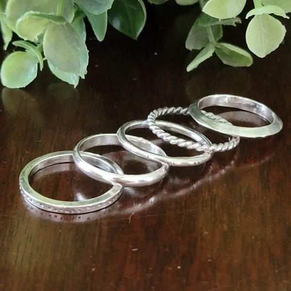 Silver Stacking Ring Set