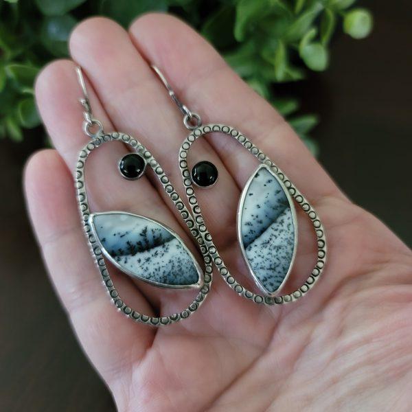 Dendritic Opal Earrings